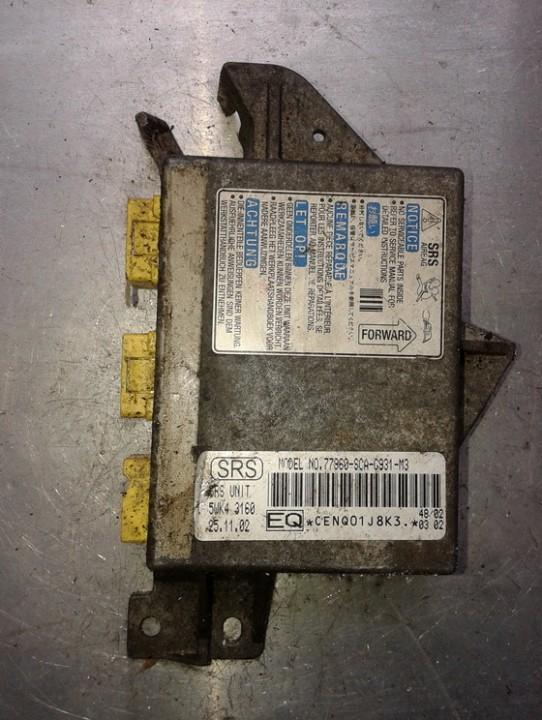 Airbag crash sensors module 77960SCAG931M3 5WK43160, 77960-SCA-G931-M3 Honda CR-V 2003 2.0