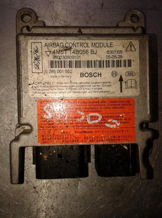 Блок управления AIR BAG  0285001552 0 285 001 552, 4M5T 14B056 BJ, 4M5T14B056BJ, C307/05, 650030909101 Ford FOCUS 1999 1.8
