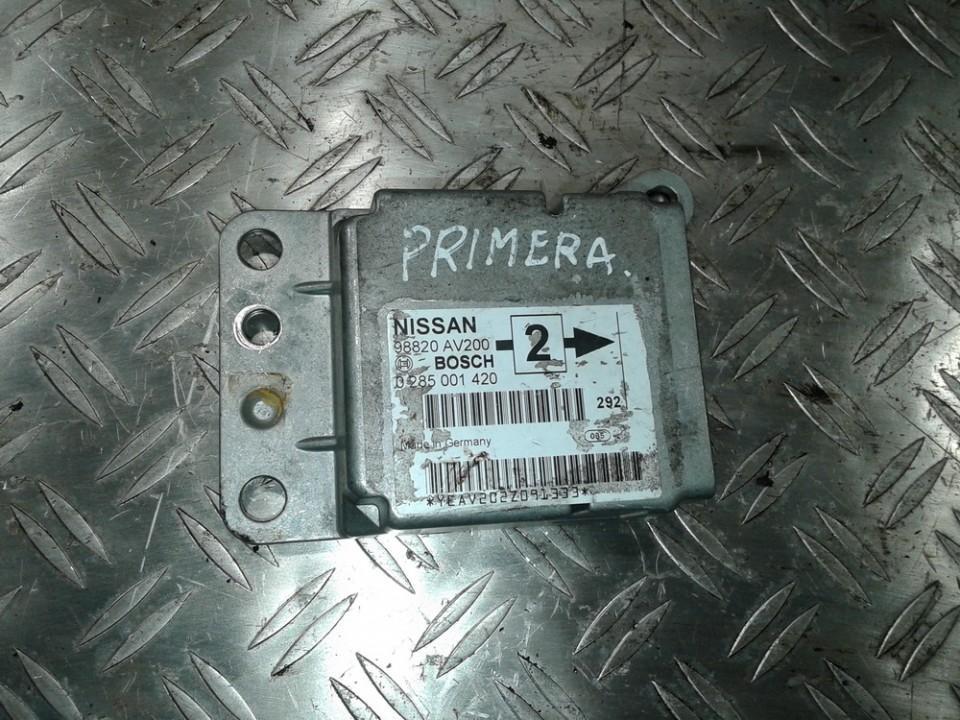 SRS AIRBAG KOMPIUTERIS - ORO PAGALVIU VALDYMO BLOKAS 0285001420 98820AV200 Nissan PRIMERA 2000 2.0