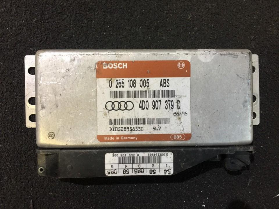 Блок управления АБС 0265108005 4d0907379d Audi A6 2008 2.0