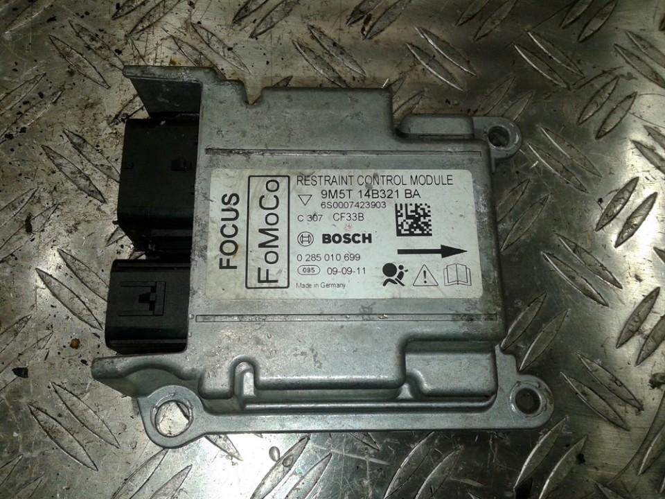 9M5T14B321BA 6S0007423903, 0285010699 SRS Airbag kompiuteris Ford Focus 2010 1.6L 40EUR EIS00153781