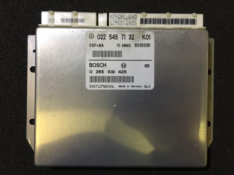 ESP PML BAS CONTROL UNIT ECU Mercedes-Benz A-CLASS 1998    1.4 0265109425