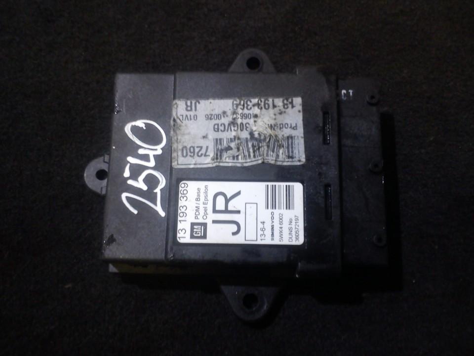 Door control relay Opel Vectra 2006    1.8 13193369