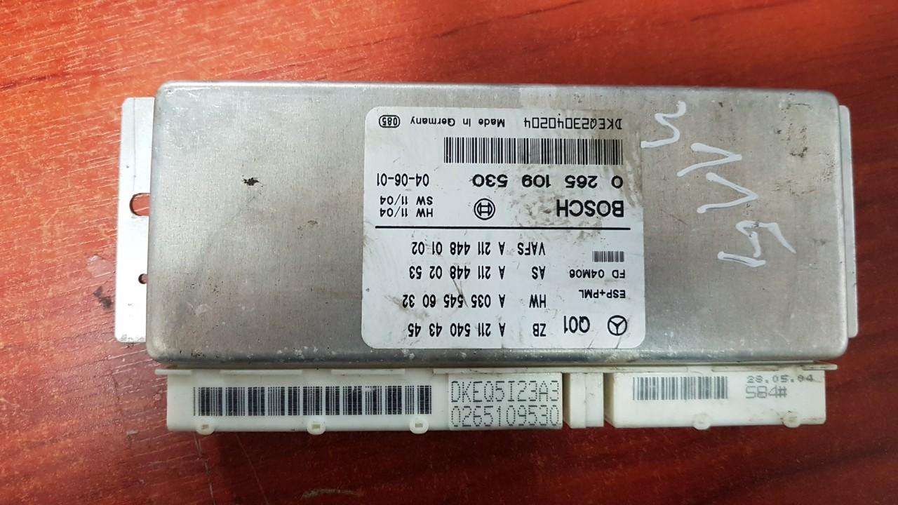 ESP PML BAS CONTROL UNIT ECU Mercedes-Benz E-CLASS 2004    3.2 0265109530