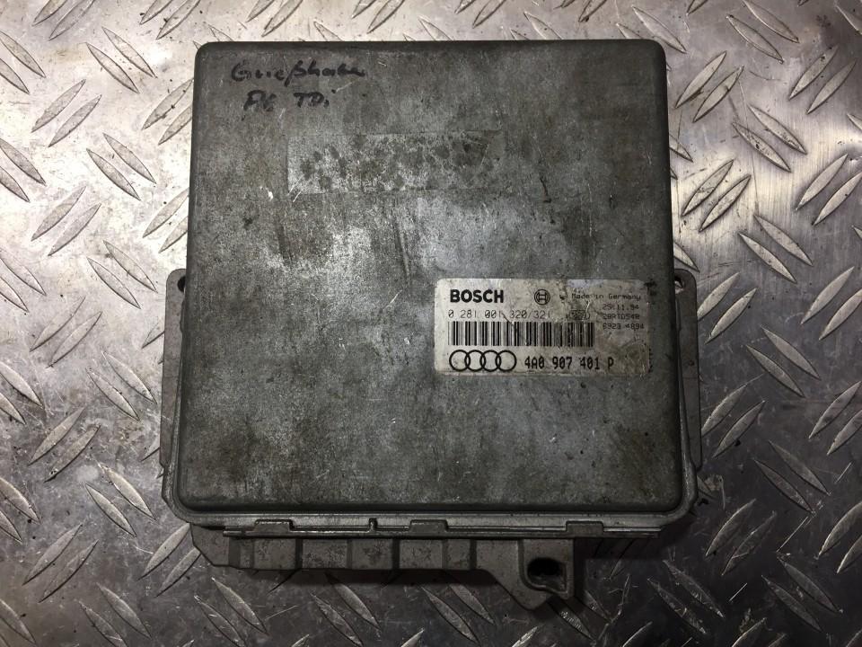 Variklio kompiuteris 0281001320 4a0907401p, 28rtd548, 69234894 Audi A6 1998 1.9