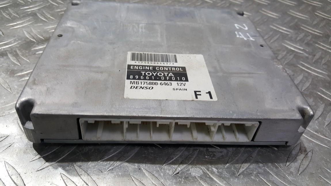 Variklio kompiuteris 896610F010 89661-0F010,MB175800-6463, MB1758006463 Toyota COROLLA VERSO 2005 2.2