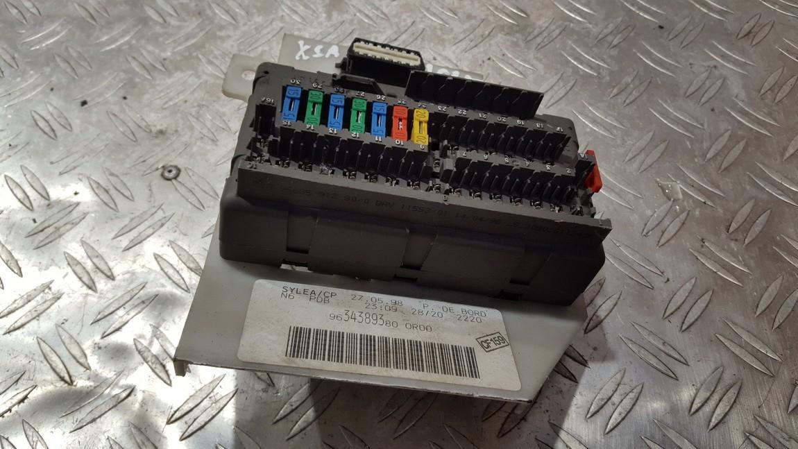 Fuse box  Citroen Xsara 1998    1.8 9634389380