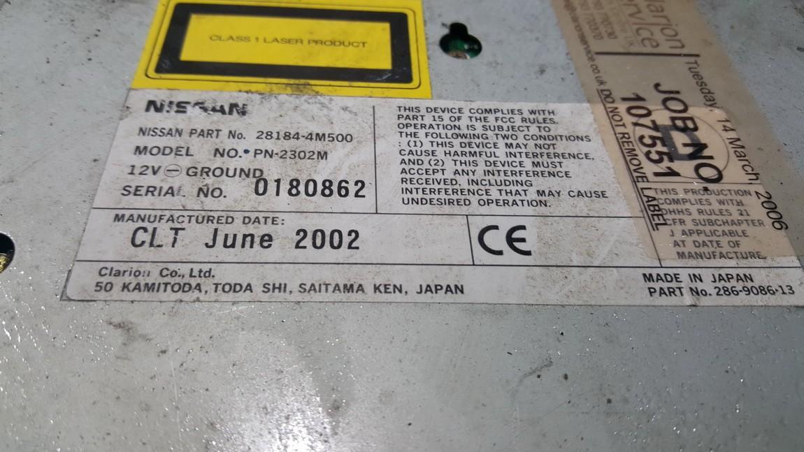 CD changers Nissan X-Trail 2003    0.0 281844M500
