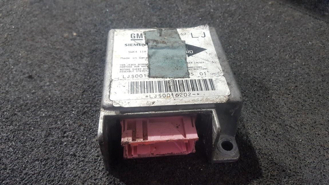 Airbag crash sensors module 90492467lj 5wk4110 Opel OMEGA 1994 2.5