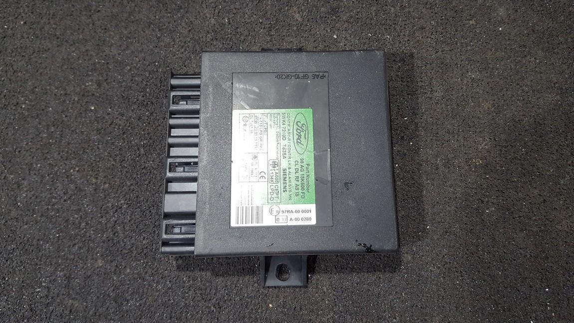 Kiti kompiuteriai 98ag15k600fd 5wk47240d Ford FOCUS 2004 1.8