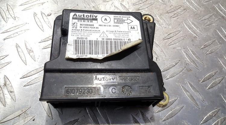 Airbag crash sensors module Citroen Berlingo 2010    0.0 619907800
