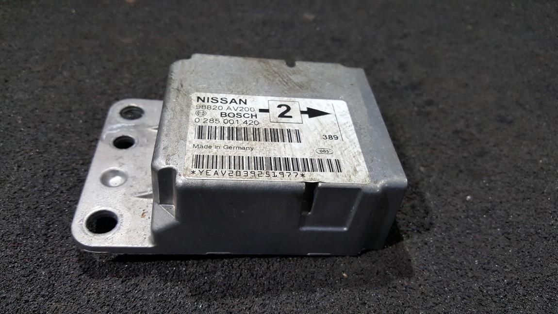 Airbag crash sensors module Nissan Primera 2005    0.0 0285001420