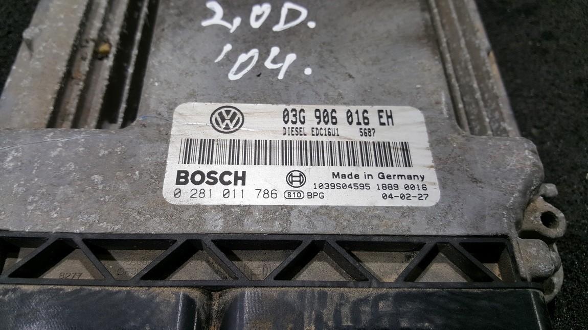 ECU Engine Computer  Volkswagen Touran 2004    2.0 03G906016EH