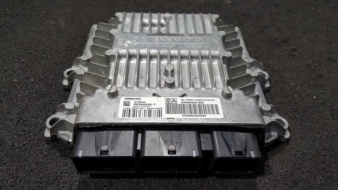 ECU Engine Computer  Peugeot 407 2007    2.0 5WS40264GT