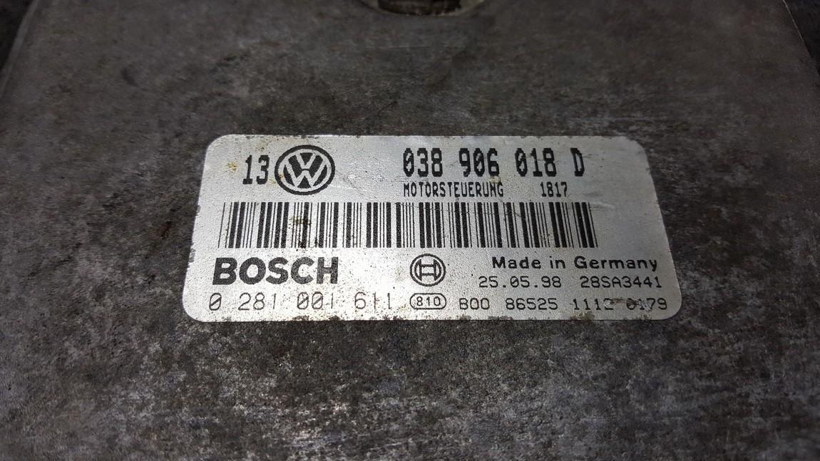 ECU Engine Computer  Audi A6 1998    1.9 038906018D