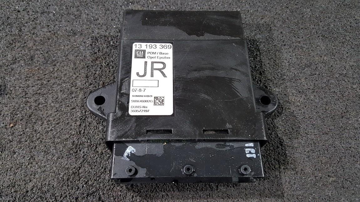 Door control relay (DOOR CONTROL UNIT MODULE ECU ) 13193369 5WK46002G, 360572197 Opel VECTRA 1997 2.0