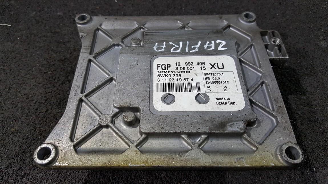 ECU Engine Computer (Engine Control Unit) 12992406 5WK9395, 6112719574, S0600115, 1299240615 Opel ZAFIRA 2002 2.2