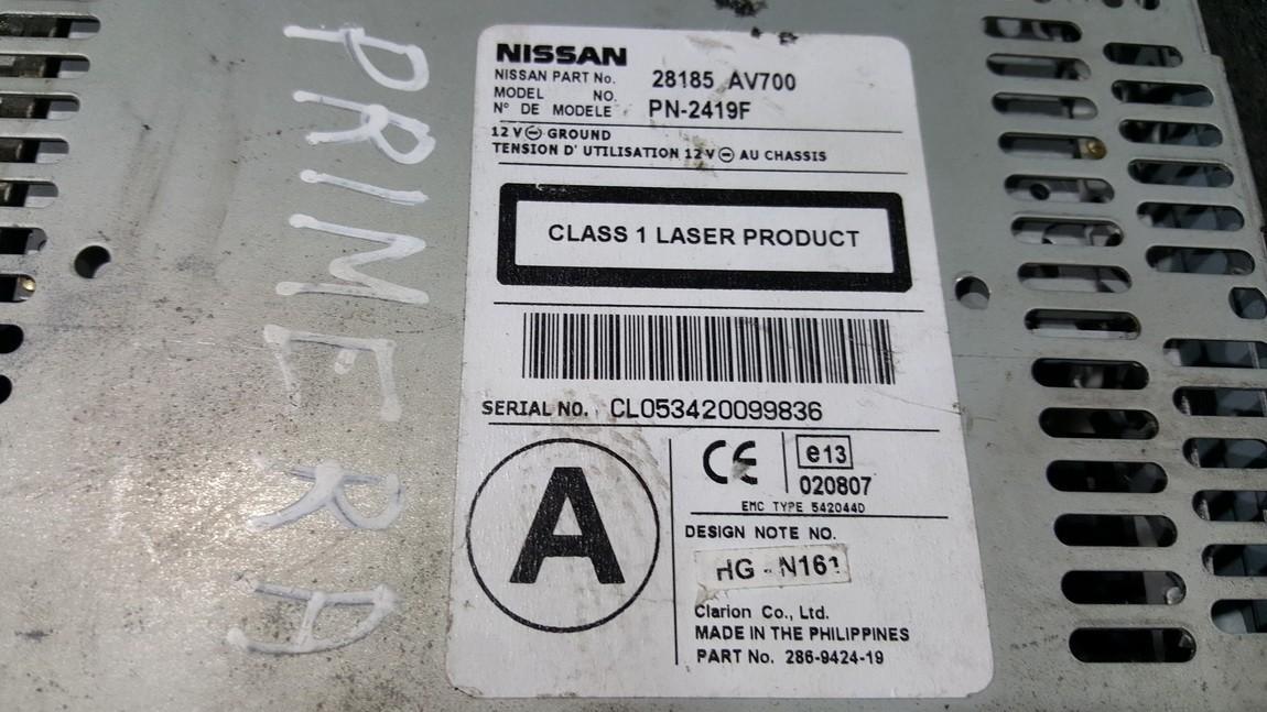 CD changers Nissan Primera 2003    0.0 28185AV700