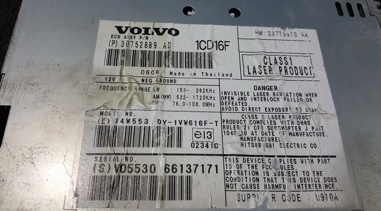CD changers Volvo S40 2006    0.0 30752889AD