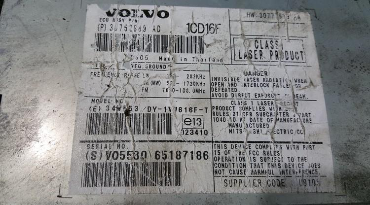 CD changers Volvo V50 2006    0.0 30752889AD