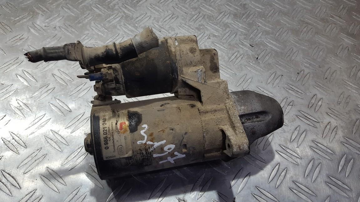 Starteris 0986021240 nenustatyta Fiat DOBLO 2009 1.3