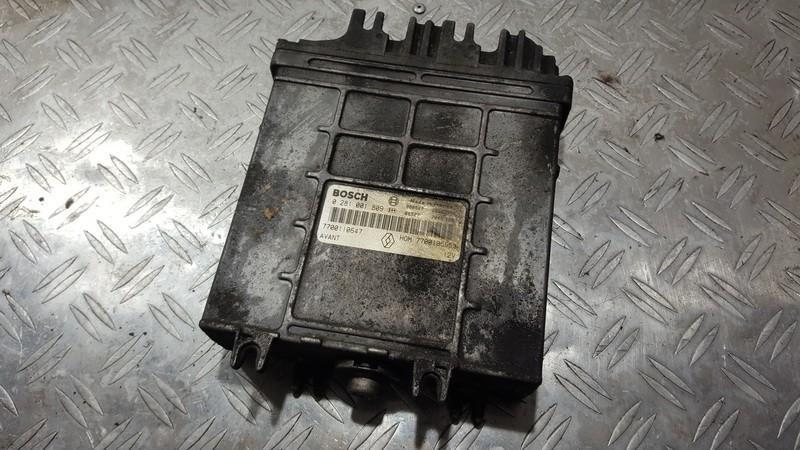 Блок управления двигателем hom7700105953 0281001809m 7700110647 Renault SCENIC 2000 1.6
