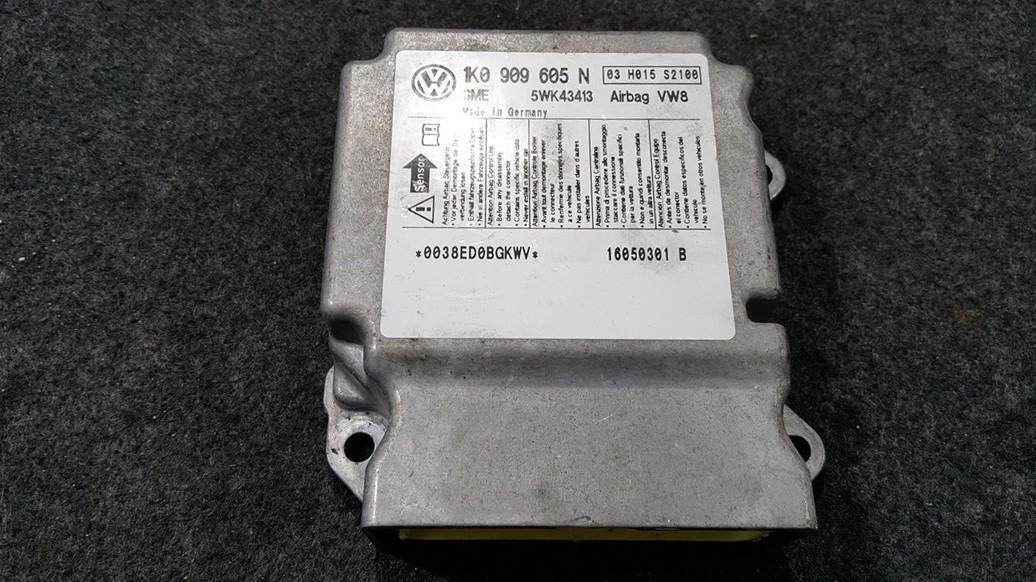 SRS Airbag kompiuteris 1K0909605N 5WK43413 Volkswagen GOLF 1998 1.9
