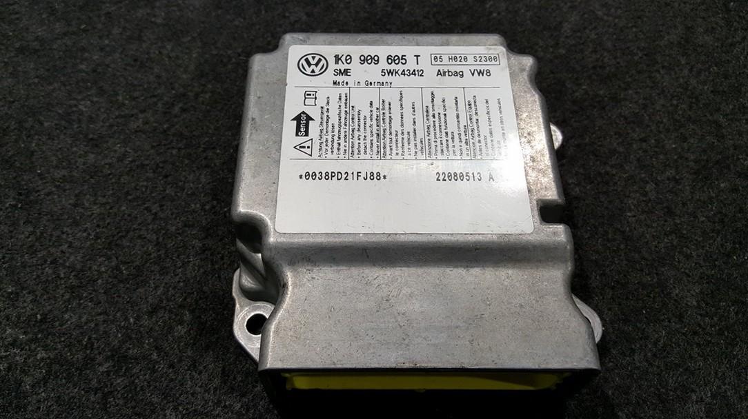 Airbag crash sensors module Volkswagen Golf 2007    0.0 1K0909605T