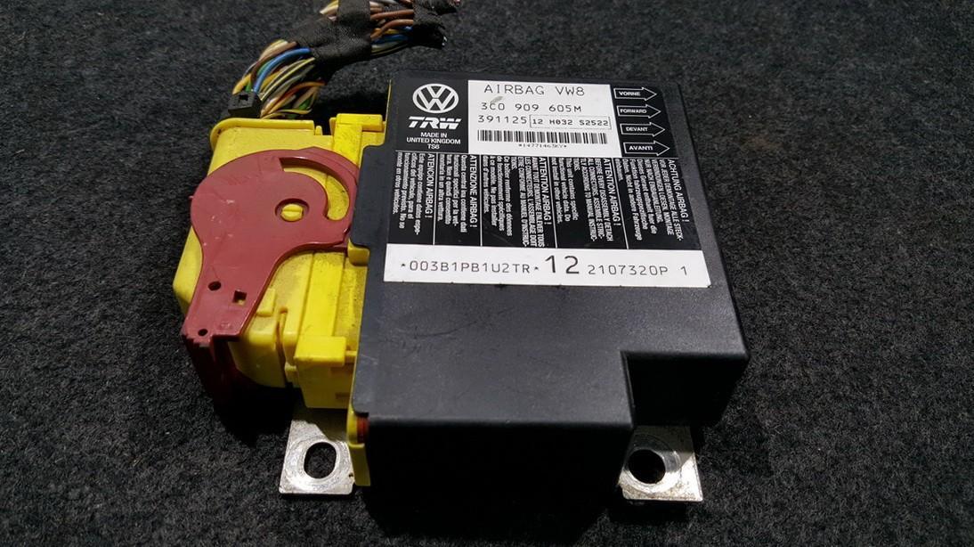 Блок управления AIR BAG  3C0909605M 391125 Volkswagen PASSAT 1996 1.6
