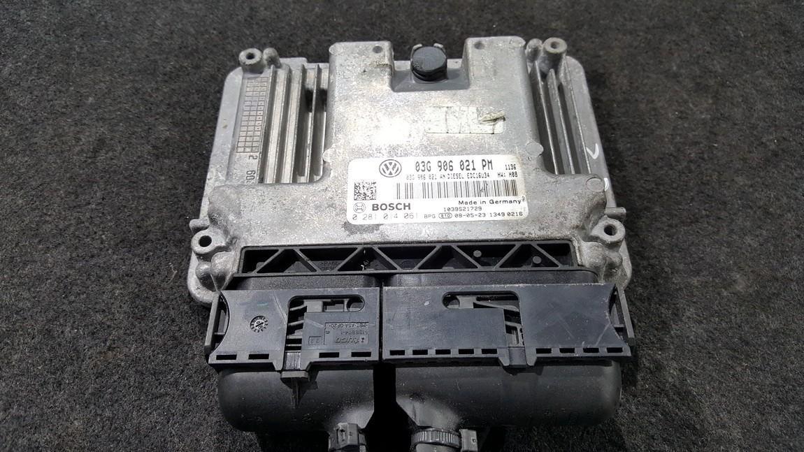 Variklio kompiuteris 03G906021PM 0281014061, 03G906021AN Volkswagen GOLF 1994 1.8