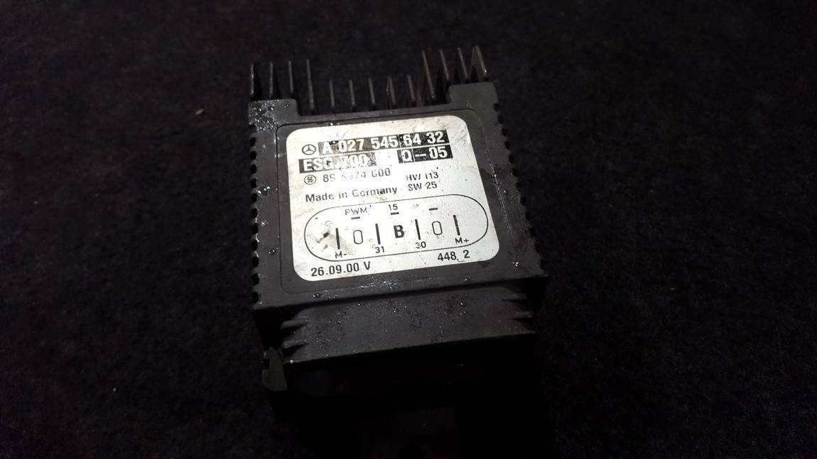 Blower Fan Regulator  Mercedes-Benz S-CLASS 2000    5.0 a0275456432