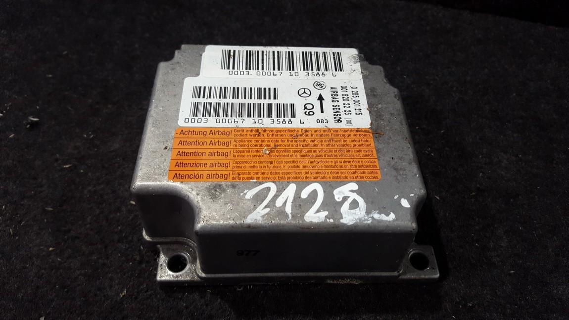Airbag crash sensors module Mercedes-Benz S-CLASS 2000    5.0 0285001215