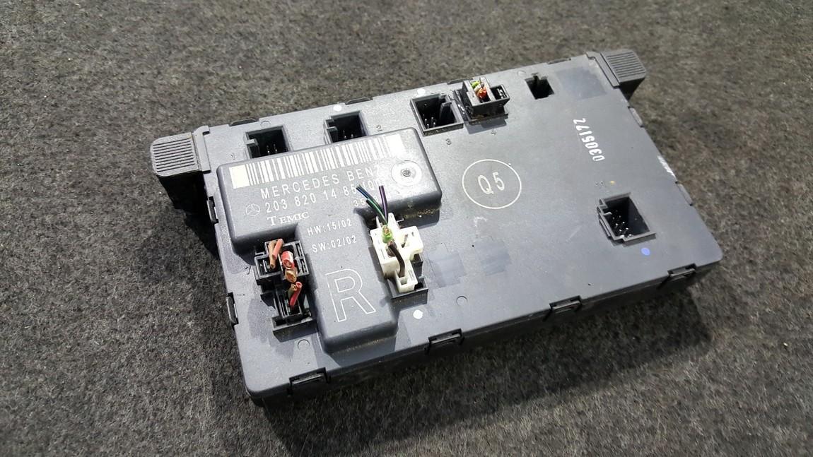 Door control relay Mercedes-Benz C-CLASS 2005    0.0 2038201485