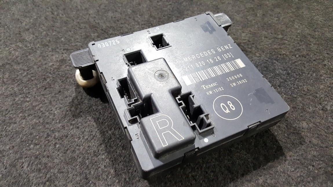 Door control relay Mercedes-Benz E-CLASS 2004    0.0 2118201626