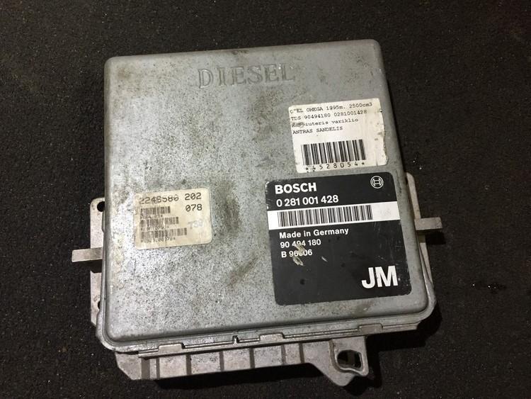 Блок управления двигателем 0281001428 jm, 90494180 Opel OMEGA 1996 2.0