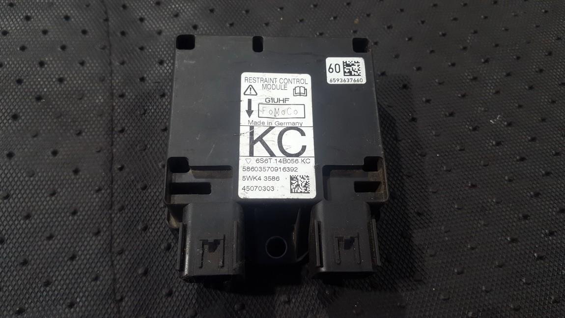 Блок управления AIR BAG  6S6T14B056KC 6S6T 14B056 KC, 5WK4 3586, 45070303, 58603570916392 Ford FIESTA 2009 1.3