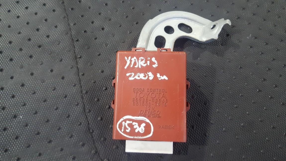 Kiti kompiuteriai 859800D060 85980-0D060, 051500-3910 Toyota COROLLA 2003 2.0