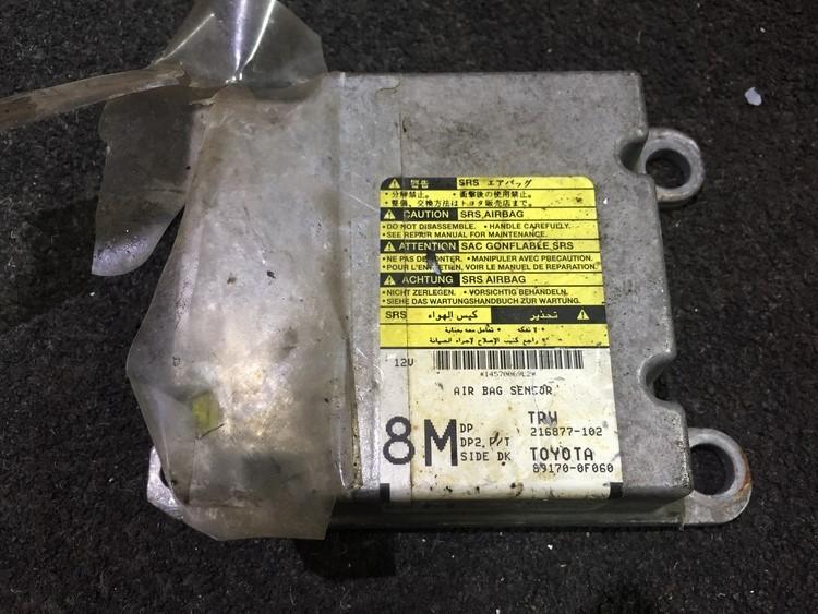 SRS AIRBAG KOMPIUTERIS - ORO PAGALVIU VALDYMO BLOKAS 891700f060 216877-102, 8M Toyota COROLLA VERSO 2005 1.8