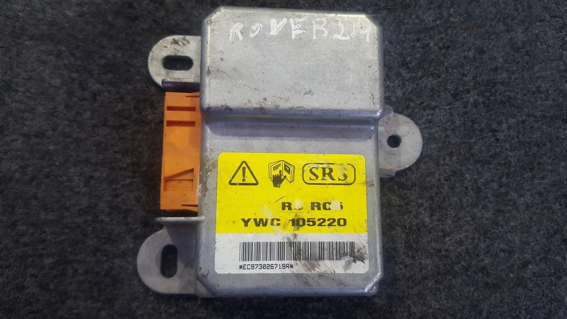 SRS AIRBAG KOMPIUTERIS - ORO PAGALVIU VALDYMO BLOKAS YWC105220 YWC 105220 Rover 200-SERIES 1998 1.4