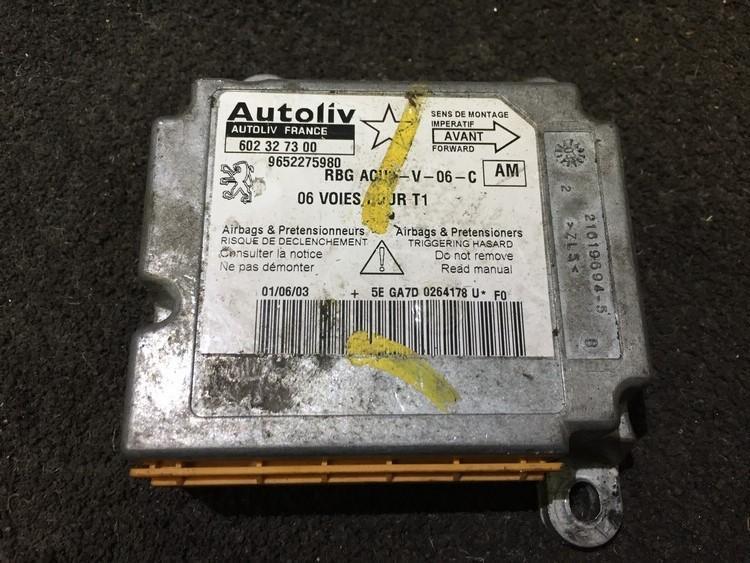 9652275980 602327300 SRS Airbag kompiuteris Peugeot 206 2004 0.0L 20EUR EIS00217009