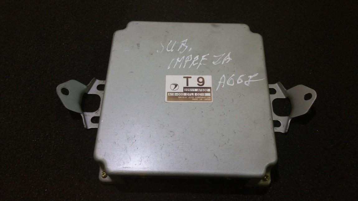 Variklio kompiuteris 22611af632 t9, a18-000d7l, 0z19 Subaru IMPREZA 2004 2.0
