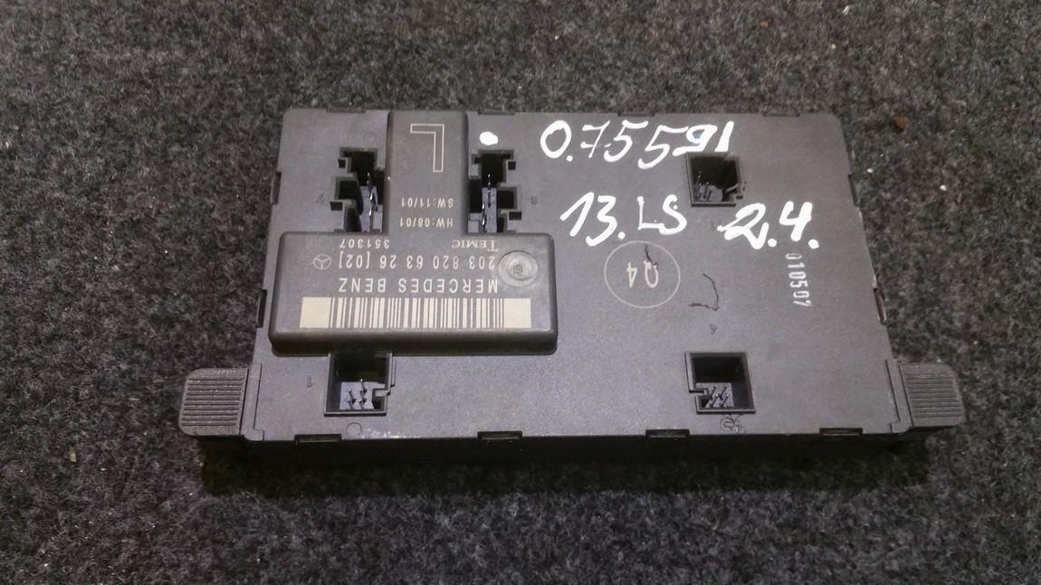 Electric window control unit Mercedes-Benz C-CLASS 2002    0.0 2038206326