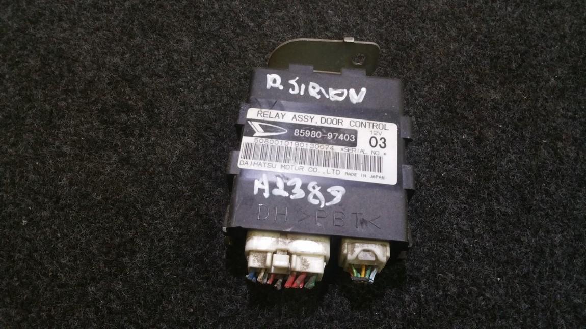 Door control relay Daihatsu Sirion 2000    1.3 8598097403