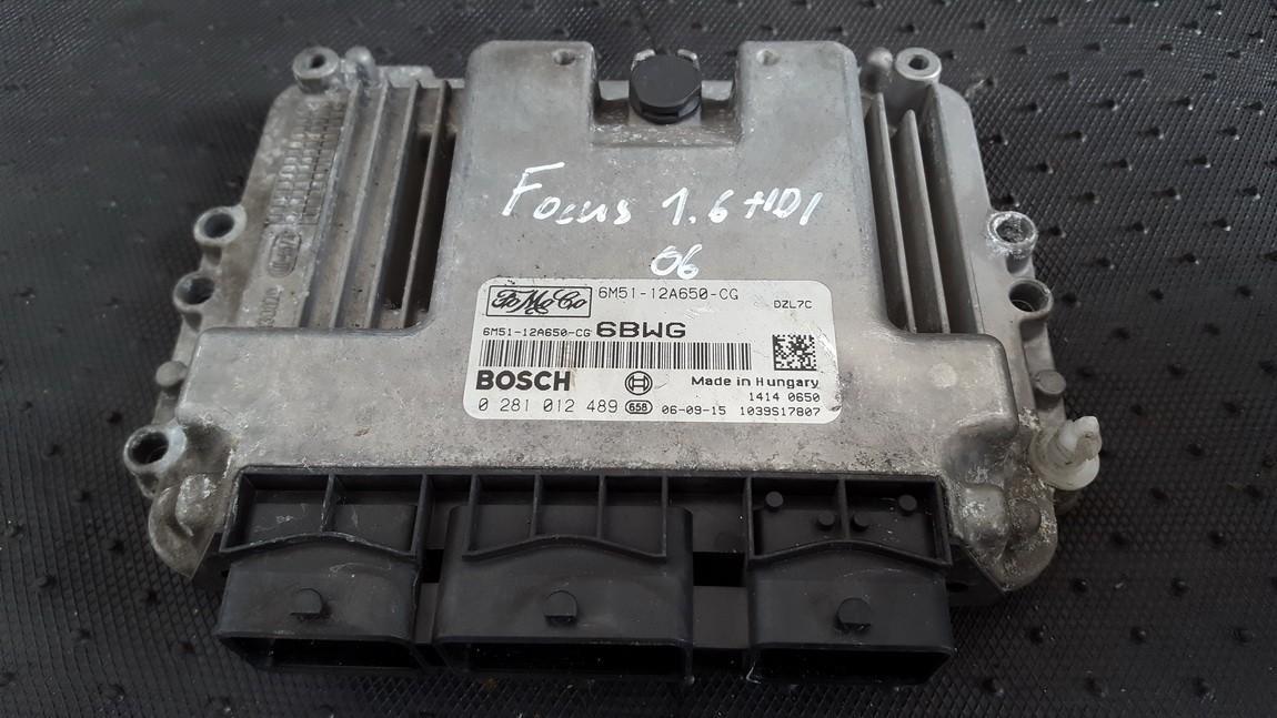 Variklio kompiuteris 6m5112a650cg 0281012489 6m51-12a650-cg Ford FOCUS 1999 1.8