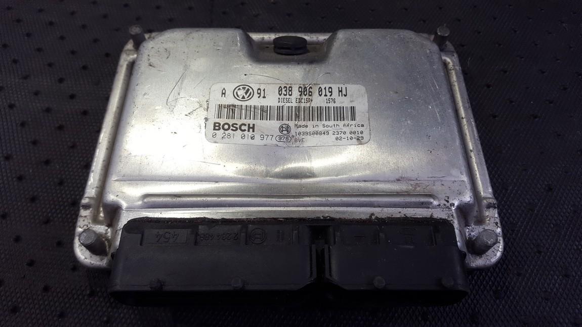 Variklio kompiuteris 038906019hj 0281010977 Volkswagen GOLF 2005 1.6