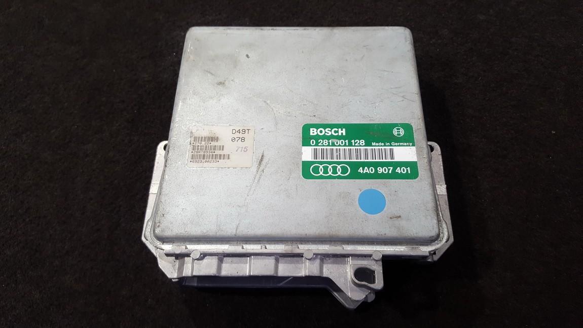 Variklio kompiuteris 0281001128 4A0907401 Audi 100 1993 2.0