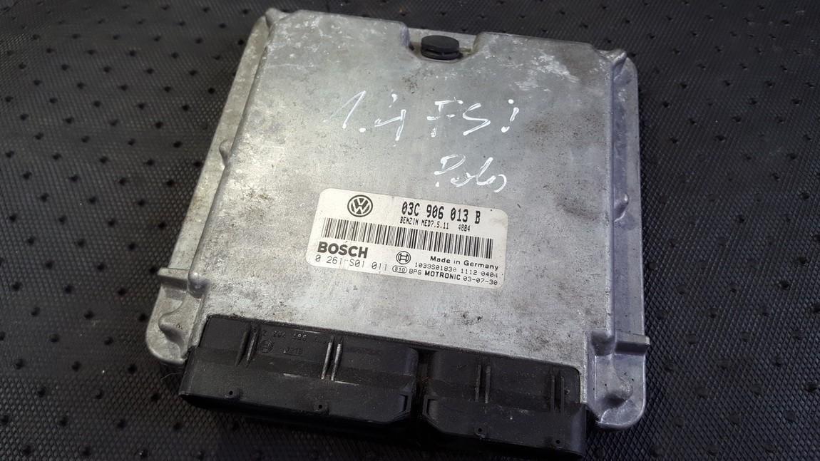 Variklio kompiuteris 03c906013b 0261s01011 Volkswagen POLO 1993 1.0