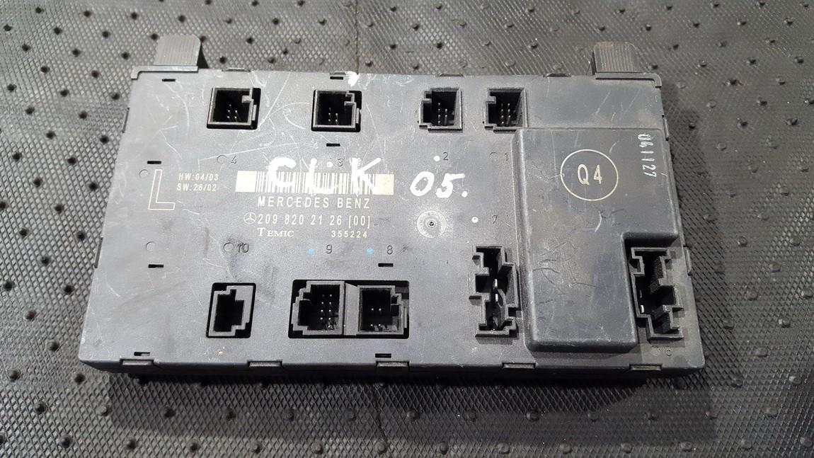 Door control relay 2098202126 355224 Mercedes-Benz CLK-CLASS 2005 2.7