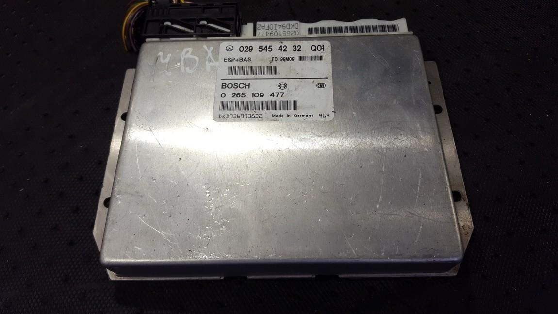 ESP PML BAS CONTROL UNIT ECU Mercedes-Benz A-CLASS 2001    1.6 0295454232Q01
