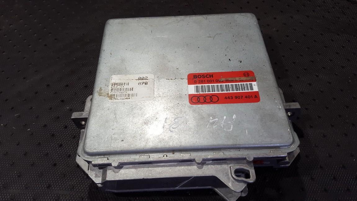 Блок управления двигателем 0281001092 443907401A Audi 100 1985 2.0